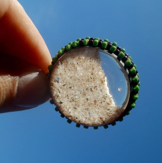 terrarium necklace sand beach baltic sea by SparkleCingari on Etsy