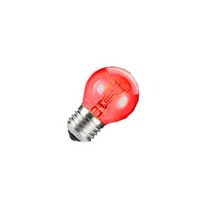 Miniature Lamp 509KR   24V, .18A Candelabra Base Bulb (Red)