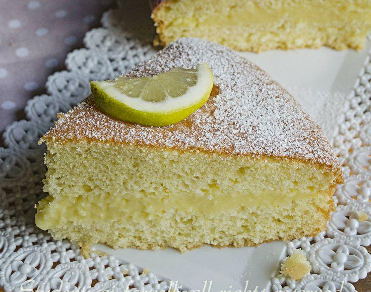 Torta paradiso al limone con crema al limone