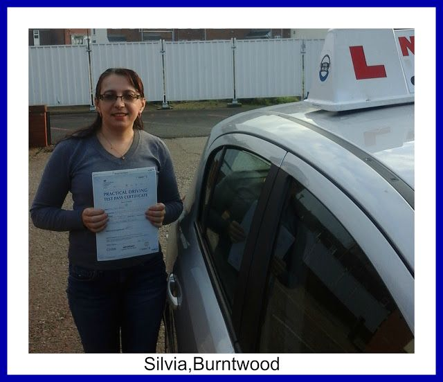 newlearner.co.uk: Lucky Silvia Passes at Lichfield Driving Test centre.