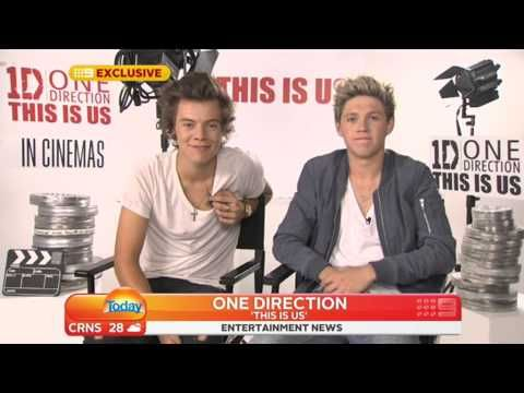 ▶ One Direction THIS IS US - Today Show AU 22/08/2013 >>> Finally, I officially know how to pronounce craic. Also Harry has confirmed Niall is pregnant hahahah