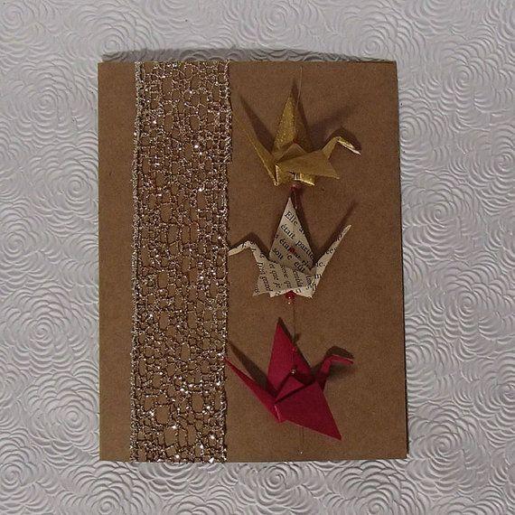 Christmas Handmade  Card  Custom Cards  Blank Card  by OrijujuShop