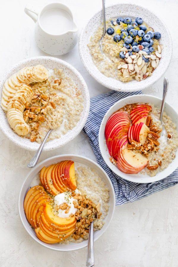 Quinoa Oatmeal Breakfast Recipe Feelgoodfoodie Recipe Quinoa Oatmeal Oatmeal With Fruit Recipes