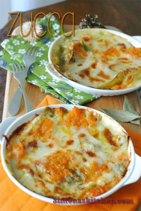 Simona'sKitchen: Lasagne Verdi con Zucca e Gorgonzola - Squash & Gorgonzola Cheese Lasagna - Lasagna Verte à la Citrouille & Gorgonzola