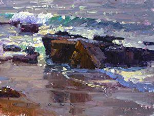 Silver Surf by Jim Wodark Oil ~ 9 x 12