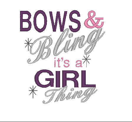 Bows Amp Bling My Pins Embroidery Designs Cute Quotes
