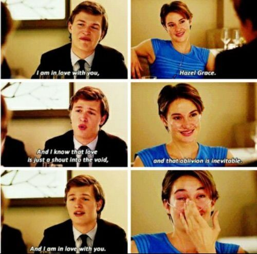 The Fault In Our Stars Quotes Movie: The Fault In Our Stars Movie~one Of The Saddest Parts In