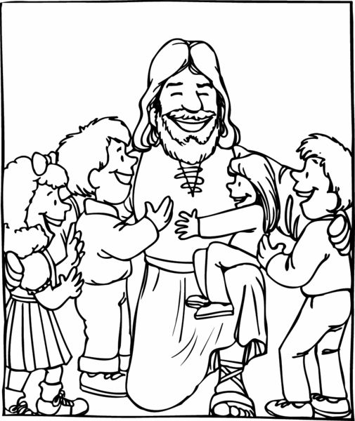 44 best images about jesus blessing the children on for Jesus loves the little children coloring page