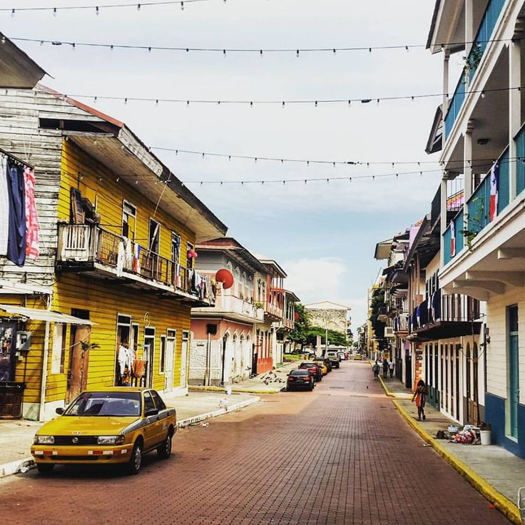 Interesting contrast of old and new in Casco Viejo, Panama City, Panama