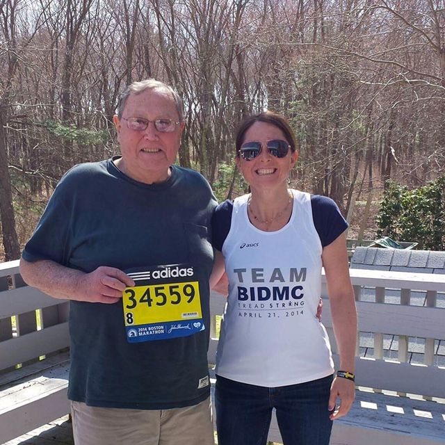 Team Bidmc Runner Robin Maxcy Is Training For Her 16th Boston Marathon Carrying The Memory Of Her Dad Across The Fin Boston Marathon Marathon Medical Miracles
