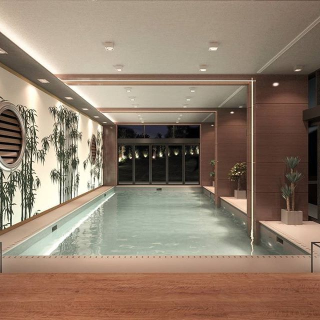 Swimming Pool Architecture. Ciftci Towers, Istanbul. Interior Design project by FM - Architettura d'Interni
