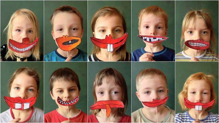 NÁLADY, NENÁLADY -  zachytit pusu vyjadřující libovolnou náladu, přiložit si ji k obličeji a přizpůsobit na základě ní i celkovou mimiku obličeje (kombinovaná technika)
