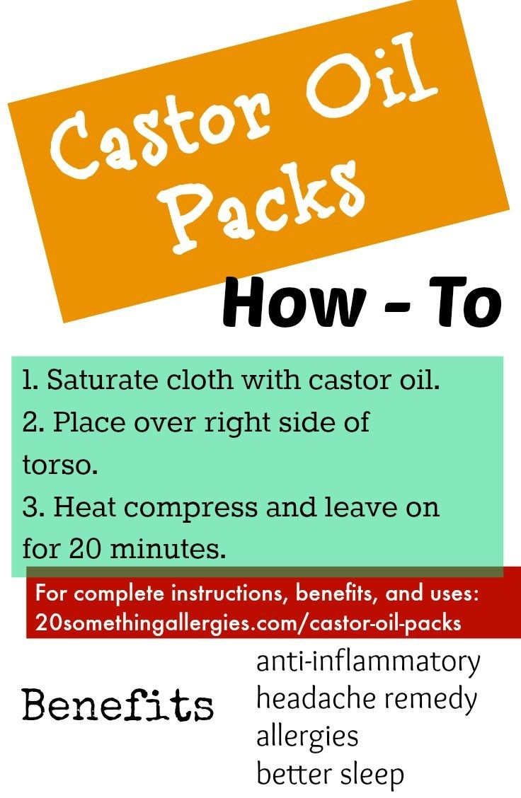 Castor Oil Packs For Detoxification Allergies And Liver Health Castor Oil Packs Liver Health Castor Oil