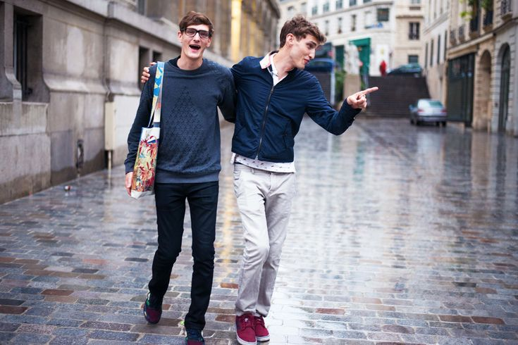 Street Style Behind the Scenes With Top Male Models