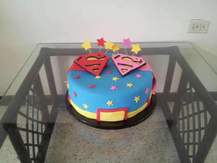 Superman And Supergirl Cake In 2019