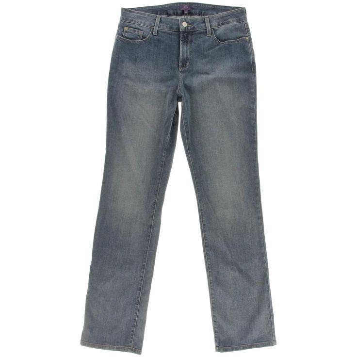 NYDJ Womens Slimming Fit Classic Rise Straight Leg Jeans