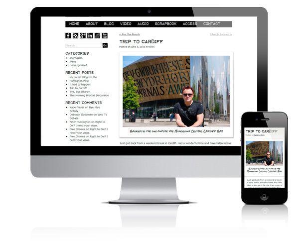 Mik Scarlet, responsive WordPress theme by Diane Wallace, via Behance