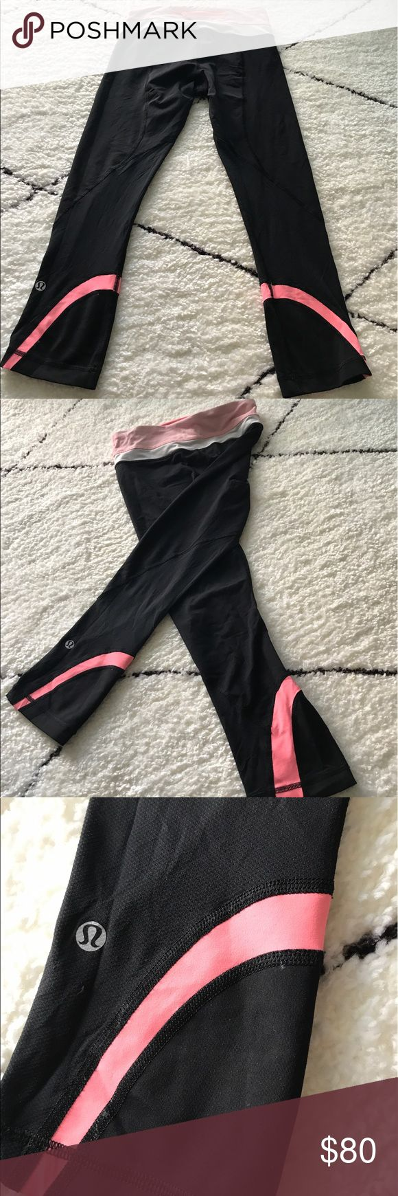 ✨Excellent Condition✨ Lululemon Run Inspire Crops Excellent condition Run Inspire Crops! No smell or defects. See pics for details. (Pic #5 is used for reference.) Color is a coral pink! Material is luon. Perfect for running or spinning. For additional product details, view the updated version on the website: https://shop.lululemon.com/p/women-crops/Pace-Rival-Crop/_/prod4650003?rcnt=9&N=7yr&cnt=26&color=LW6F41S_028694 lululemon athletica Pants Ankle & Cropped