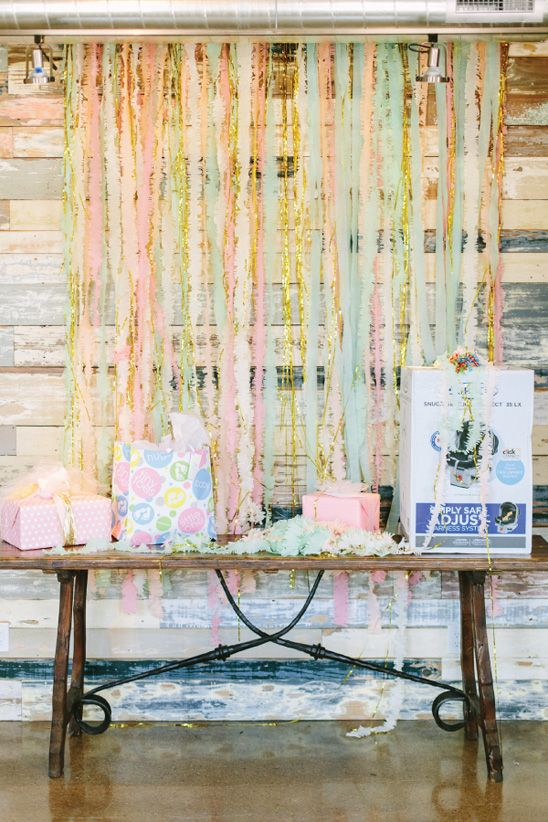 A Pretty Surprise Baby Shower in Gray, Yellow, Pink, and Mint - On to Baby