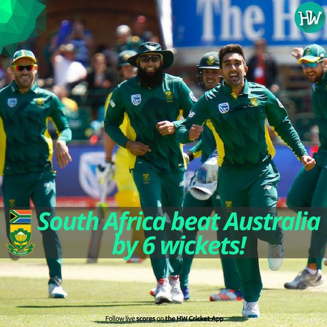 South Africa near a whitewash. They go 4-0 up in the series. Another clinical win! #SAvAUS #SA #AUS #cricket