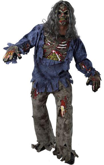 Complete Teen Zombie Halloween Costume   Jokers Masquerade