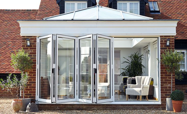 pale grey aluminium bifold doors and window - Google Search