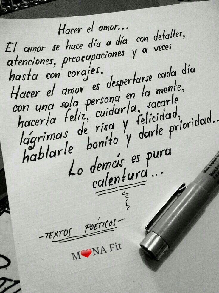 Hacer El Amor Frases Pinterest