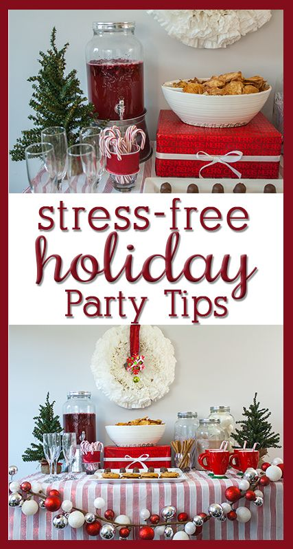 Christmas Party Ideas - Tips for low-stress holiday entertaining!