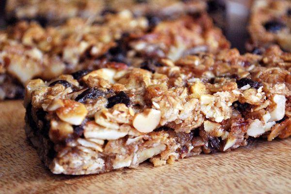 Receta saludable de barras de granola