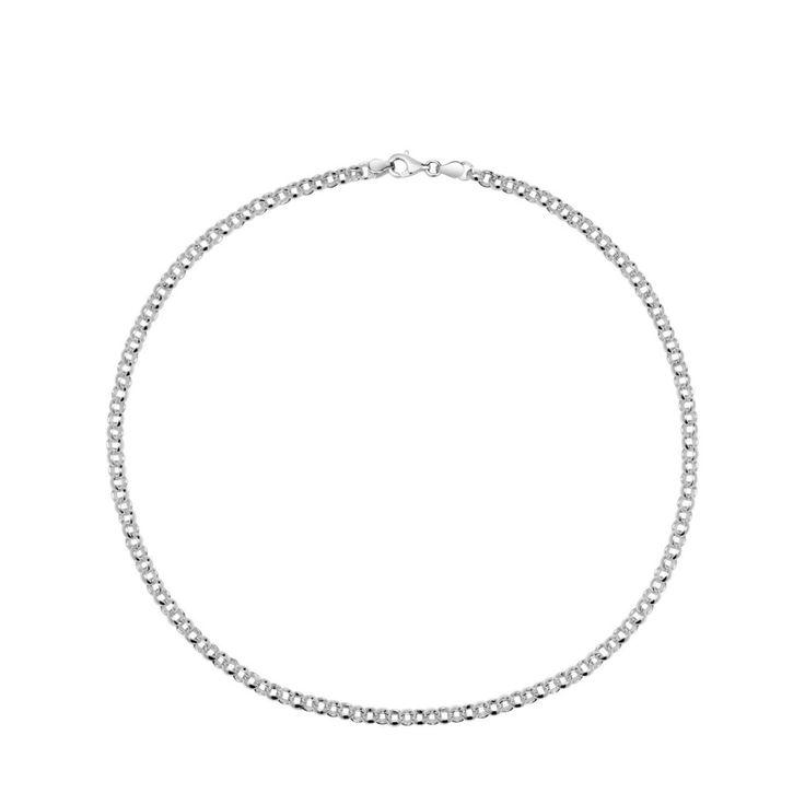 Srebrny łańcuszek Tous o długości 45 cm