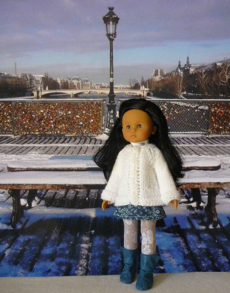 Veste pour poupée Chérie: 1) http://marieetlaines.canalblog.com/archives/2016/01/19/32745841.html 2) http://p3.storage.canalblog.com/34/19/1066432/106810841.pdf