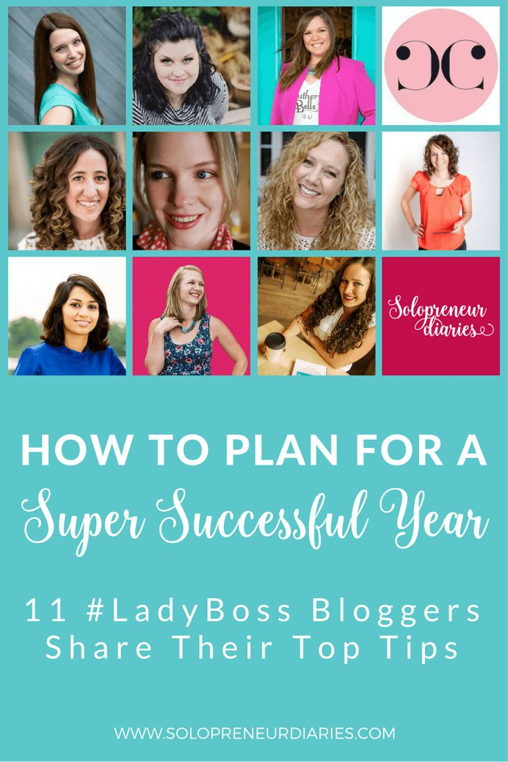 11 LadyBoss Blogger share their top tip for a super successful year.