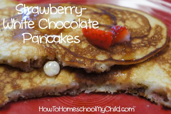valentines day recipes -heart-shaped strawberry pancakes, with coconut ...