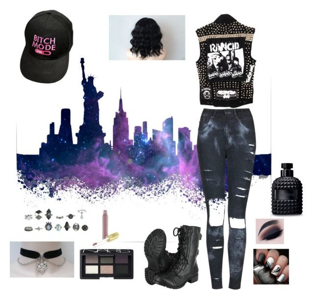 """Rocker Mode"" by h3llokittyland ❤ liked on Polyvore featuring The Ragged Priest, NARS Cosmetics and Valentino"