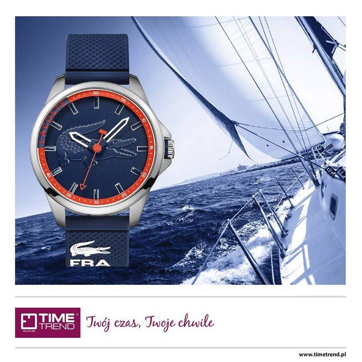Nowości w Time Trend.  Lacoste Capbreton 2010842.  Inspiracje zaczerpnięte z morza i sportów z nim związanych.  Więcej zegarków Lacoste na www.timetrend.pl  #lacoste #zegarek #zegarki #woda #sport #żeglarstwo #timetrend #kolor #moda #styl #fashion #capbreton