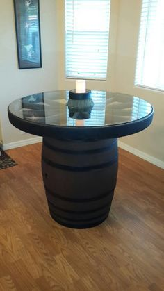 Wagon Wheel Dining Table | Our Wagon Wheel/ Wine Barrel table