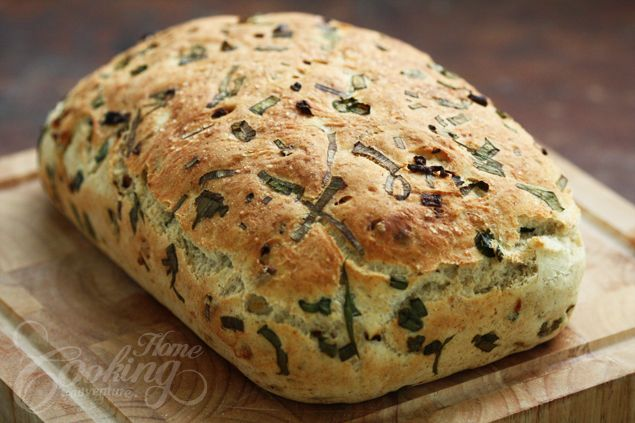 Carmelized Onion Bread.  Soft fluffy bread, the aroma of the onions makes you want more and more.