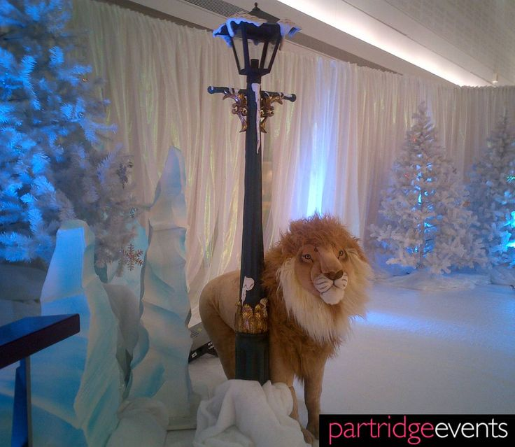 Narnia theming for a Christmas event #eventplanner