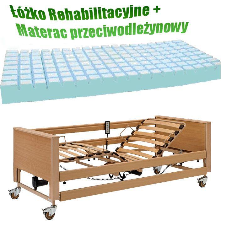 Łóżko rehabilitacyjne szpitalne   materac