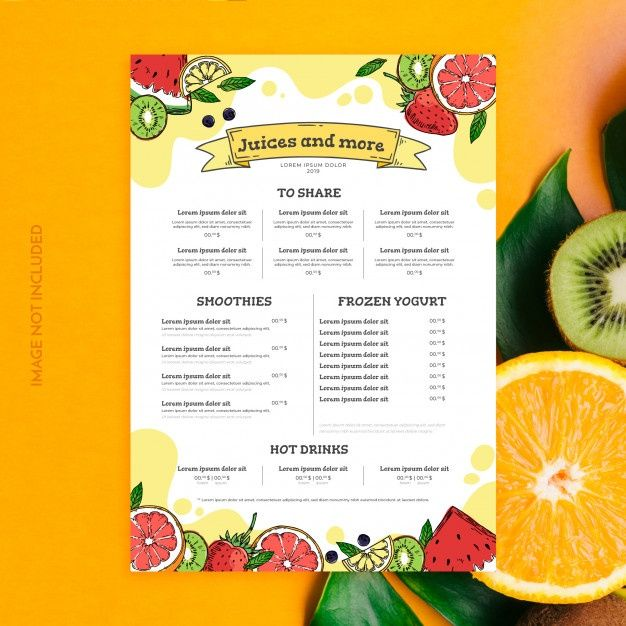 Download Juices And Smoothies Menu Template For Free Smoothie Menu Juice Menu Menu Template