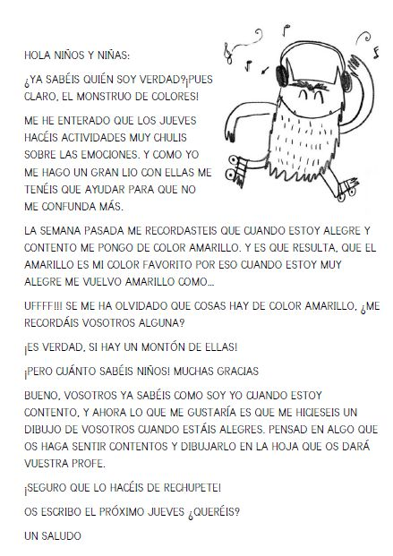 LOS RATONES DE ZARATÁN: EL MONSTRUO DE COLORES (4ª SEMANA)