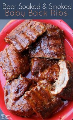 Beer Soaked & Smoked Baby Back Ribs in just over 2 hours! Perfect for tailgating & football watching (includes links to other pork recipes & tailgating ideas) via momendeavors.com #football #tailgatingwithpork