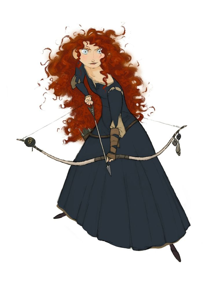 Merida | Brave' Concept Art for Merida and Angus