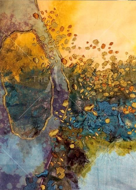 Water by Sue Hotchkis:  this reminds me of the washing by the water of the Word:  as it is poured into one's life, the richness of gold encases the heart.