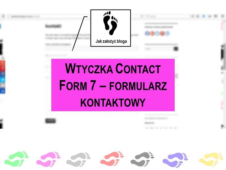 Wtyczka tworząca formularz kontaktowy na blogu. Polecam!
