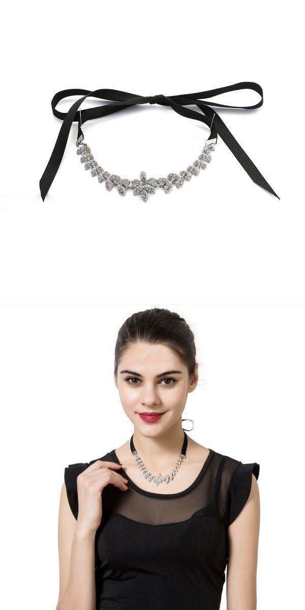 Elegant shiny rhinestone leaves pendant adjustable lace long necklace jewelry for women  mens necklace pendants uk #jcpenney #jewelry #pendants #necklace #pendants #tiffany #origami #necklaces #pendants #unusual #necklaces #pendants