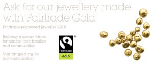 Today our application was accepted and we are now a Fairtrade Goldsmith