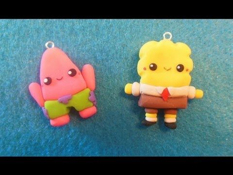 ▶ Spongebob and Patrick Tutorial ♥ Polymer Clay - YouTube
