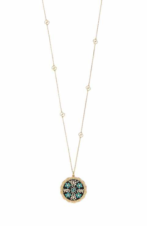 574da120c Gucci Icon Blooms Enamel Pendant Necklace | everyday style ...