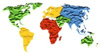 clip art  and web sites including globes flags countries continents usa and world images